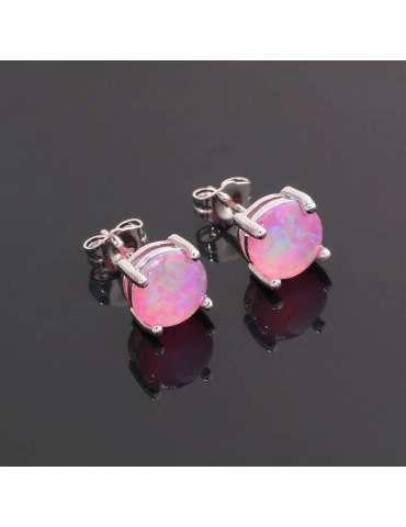pink-opal-earrings-healing-jewelry-gemstone-dark-black-background-hihoney-HE019