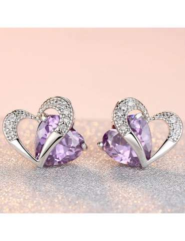 heart-shaped-purple-amethyst-earrings-healing-jewelry-gemstone-warm-background-hihoney-he034