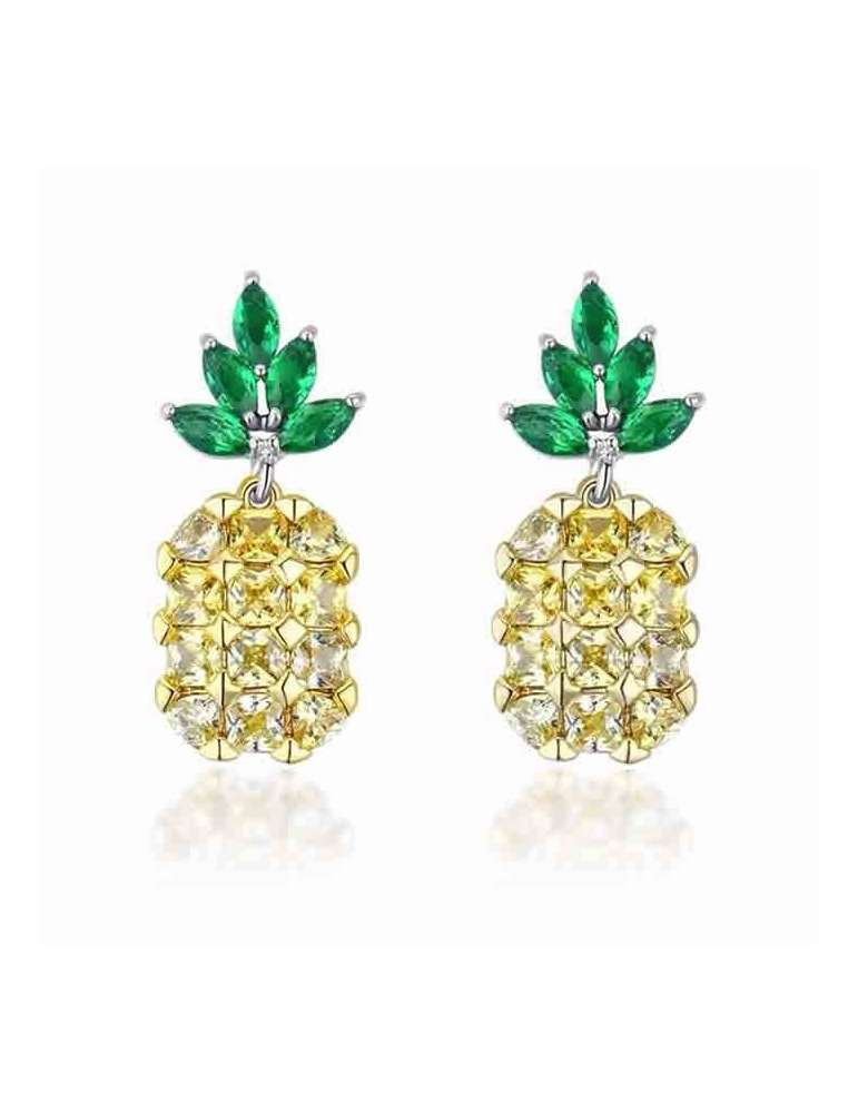 cute-pineapple-earrings-healing-jewelry-gemstone-white-background-hihoney-he023