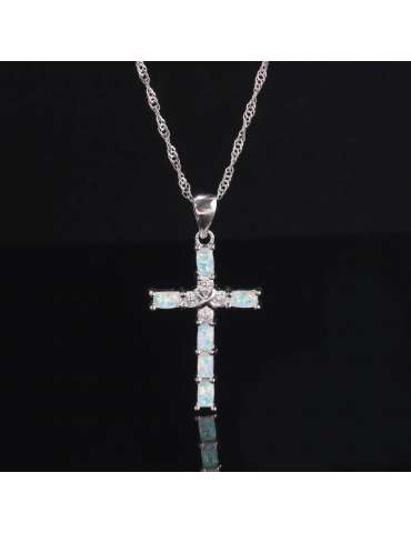 cross-shaped-necklace-white-opal-zirconia-sterling-silver-gemstone-jewelry-healing-black-background-hihoney-hn016