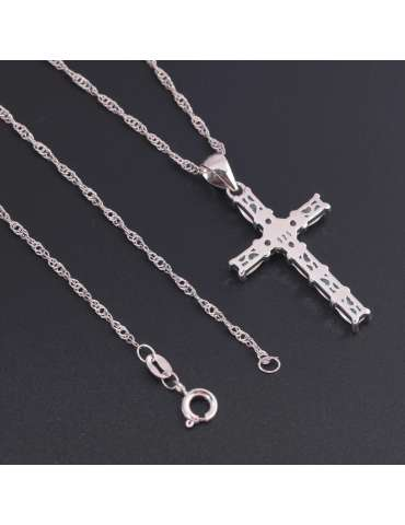cross-shaped-necklace-white-opal-zirconia-sterling-silver-gemstone-jewelry-healing-grey-background-hihoney-hn016