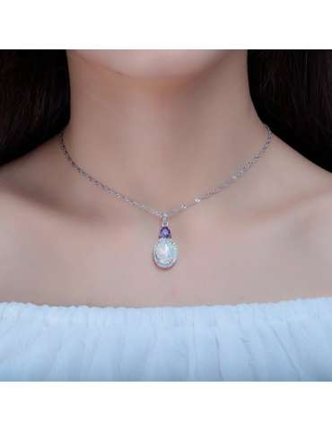 white-opal-topaz-amethyst-silver-gemstone-jewelry-healing-necklace-pendant-woman-model-neck-02-hihoney-hn027b