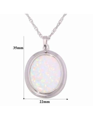 opal-necklace-large-white-gemstone-jewelry-healing-pendant-white-background-details-hihoney-hn023