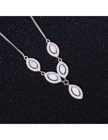 white-opal-silver-necklace-cubic-zirconias-gemstone-jewelry-birthstone-pendant-black-background-hihoney-hn038