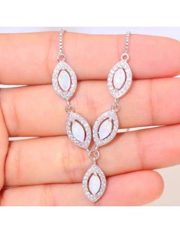 white-opal-silver-necklace-cubic-zirconias-gemstone-jewelry-birthstone-pendant-on-hand-hihoney-hn038