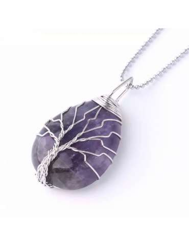 silver-wrapped-purple-amethyst-chakra-necklace-gemstone-jewelry-birthstone-pendant-white-background-hihoney-hn055