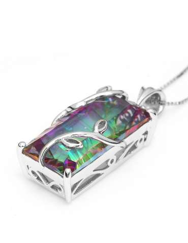 rainbow-topaz-silver-pendant-necklace-gemstone-jewelry-birthstone-side-white-background-hihoney-hn011