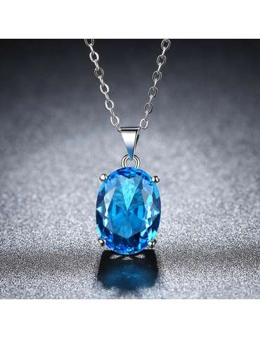 blue-cubic-zirconia-long-necklace-pendant-gemstone-jewelry-birthstone-grey-background-hihoney-hn026