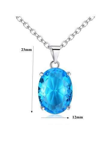 blue-cubic-zirconia-long-necklace-pendant-gemstone-jewelry-birthstone-details-white-background-hihoney-hn026