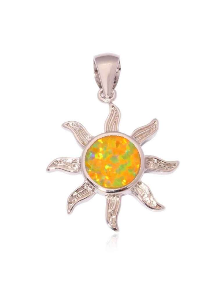 solar-yellow-opal-silver-pendant-gemstone-jewelry-birthstone-white-background-hihoney-hn013