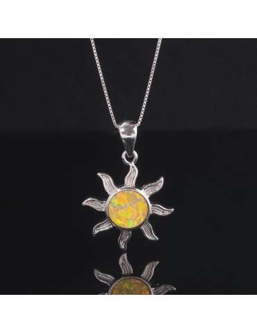 solar-yellow-opal-silver-pendant-gemstone-jewelry-birthstone-black-background-hihoney-hn013