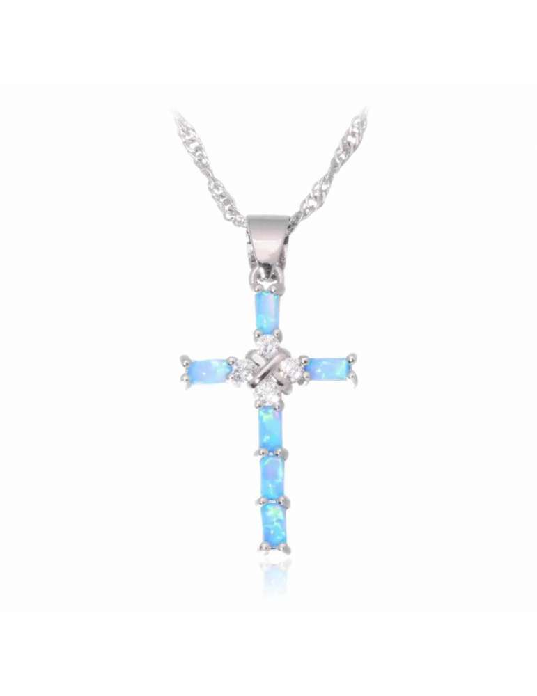 cross-blue-opal-silver-necklace-gemstone-jewelry-birthstone-white-background-hihoney-hn017