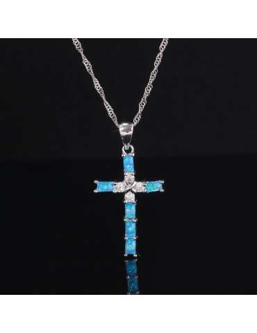 cross-blue-opal-silver-necklace-gemstone-jewelry-birthstone-black-background-hihoney-hn017