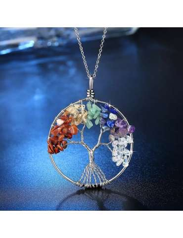 tree-of-life-chakra-silver-pendant-necklace-gemstone-jewelry-birthstone-blue-background-hihoney-hn036