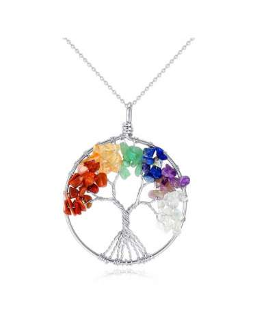 tree-of-life-chakra-silver-pendant-necklace-gemstone-jewelry-birthstone-white-background-hihoney-hn036