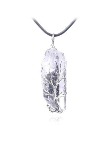 white-crystal-wire-wrapped-chakra-pendant-gemstone-jewelry-birthstone-white-background-hihoney-hn049