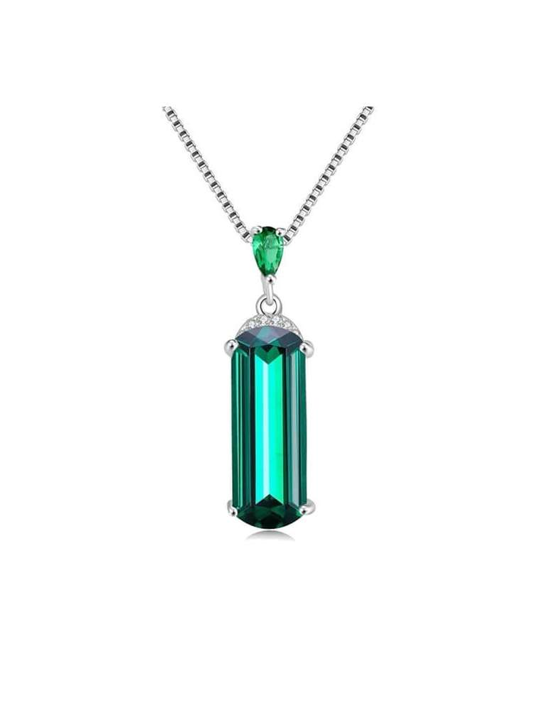 green-emerald-silver-pendant-gemstone-jewelry-birthstone-white-background-hihoney-hn034