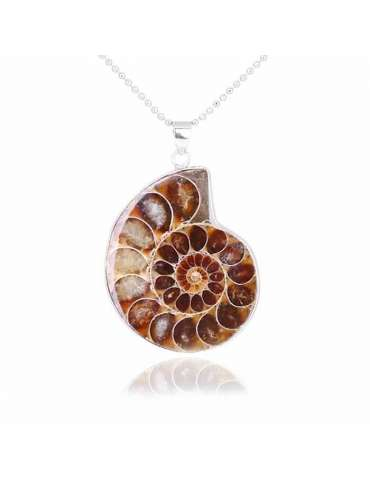 Seashell Shape Ammonite Vintage Necklace