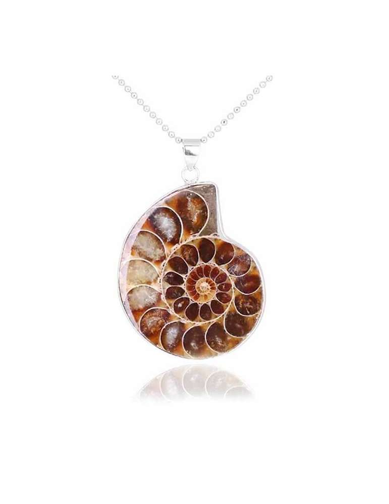 seashell-shape-ammonite-vintage-necklace-gemstone-jewelry-birthstone-pendant-white-background-hihoney-hn050