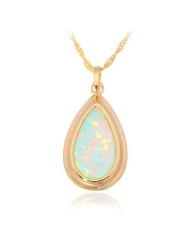 gold-plated-white-light-green-opal-gemstone-jewelry-healing-necklace-pendant-white-background-hihoney-hn031