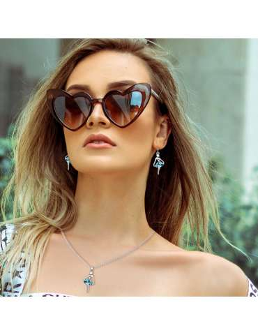 silver-ballerina-jewelry-set-blue-healing-necklace-pendant-earrings-model-woman-sunglasses-hihoney-hs016