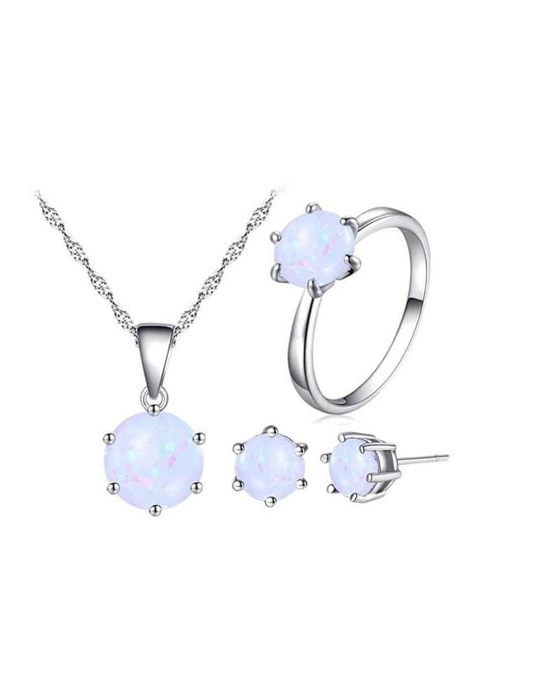 minimalist-white-opal-silver-jewelry-set-healing-necklace-pendant-ring-earrings-white-background-hihoney-hn010