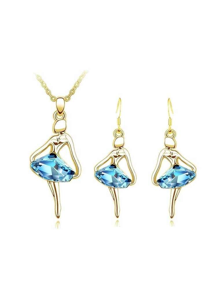 gold-ballerina-jewelry-set-blue-healing-necklace-pendant-earrings-white-background-hihoney-hs017