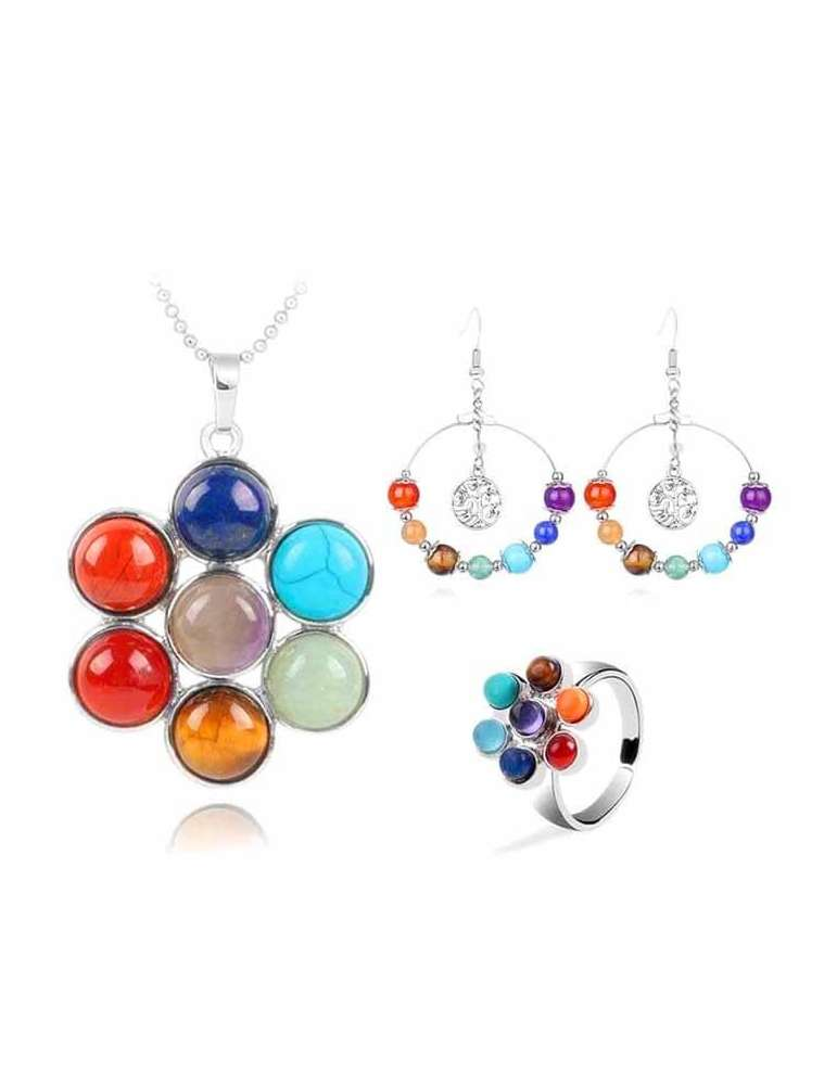 chakra-flower-jewelry-set-healing-necklace-pendant-earrings-ring-white-background-hihoney-hs020