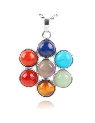 chakra-flower-jewelry-set-healing-necklace-pendant-white-background-hihoney-hs020