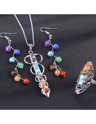 colors-of-chakra-jewelry-set-healing-necklace-pendant-earrings-ring-black-background-hihoney-hs021