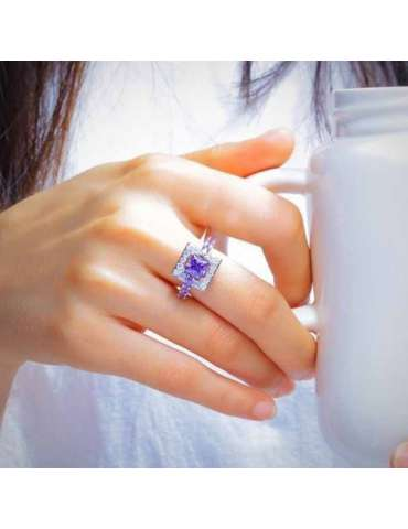 purple-amethyst-ring-chakra-gemstone-jewelry-sterling-silver-woman-hand-holding-coffee-hr012