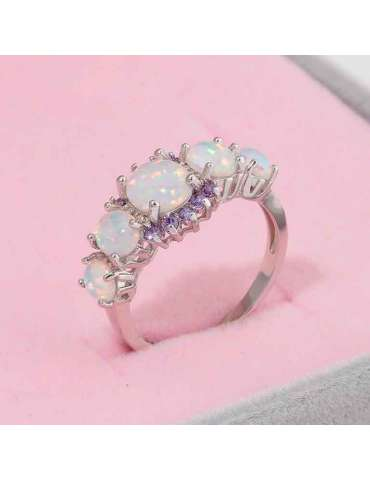 white-opal-purple-amethyst-ring-gemstone-jewelry-pink-background-hihoney-hr016