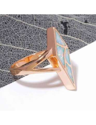 rose-gold-plated-ring-white-opal-gemstone-jewelry-black-white-background-hihoney-hr021