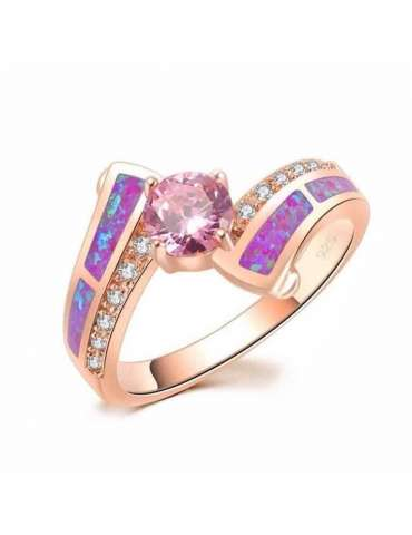rose-gold-plated-ring-purple-opal-pink-topaz-gemstone-jewelry-white-background-hihoney-hr022