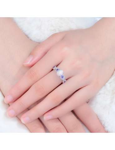 graceful-silver-white-opal-purple-amethyst-ring-gemstone-jewelry-woman-crossed-hands-on-fur-hihoney-hr017