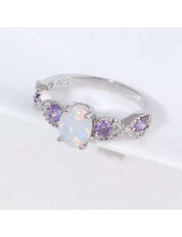 graceful-silver-white-opal-purple-amethyst-ring-gemstone-jewelry-grey-background-hihoney-hr017