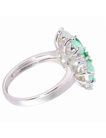 flower-shaped-green-opal-emerald-healing-ring-gemstone-jewelry-white-background-side-hihoney-hr027