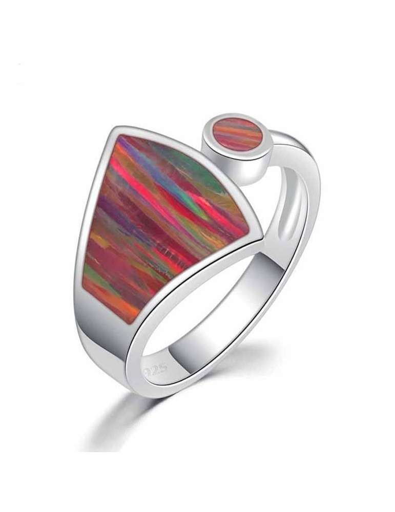 rainbow-fire-opal-sterling-silver-ring-gemstone-jewelry-white-background-hihoney-hr035