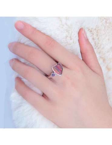 rainbow-fire-opal-sterling-silver-ring-gemstone-jewelry-woman-hand-on-fur-hihoney-hr035