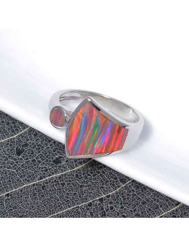 rainbow-fire-opal-silver-ring-gemstone-jewelry-black-white-background-hihoney-hr035