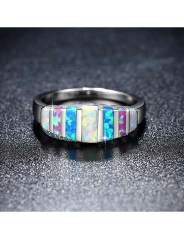 colorful-opal-ring-white-blue-pink-silver-healing-ring-gemstone-jewelry-dark-black-shiny-background-hihoney-hr042