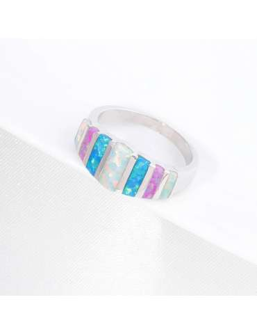 colorful-opal-ring-white-blue-pink-silver-healing-ring-gemstone-jewelry-grey-background-hihoney-hr042