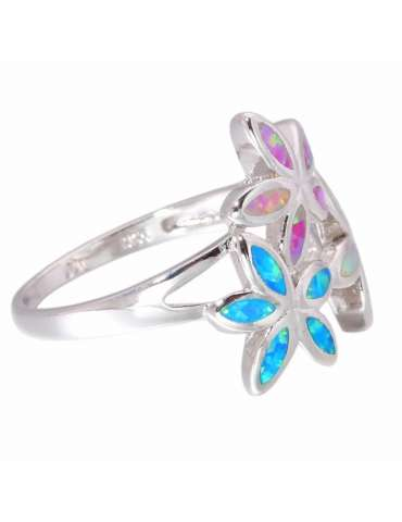flower-shaped-fire-opal-blue-white-pink-sterling-silver-healing-ring-gemstone-jewelry-white-background-side-hihoney-hr043