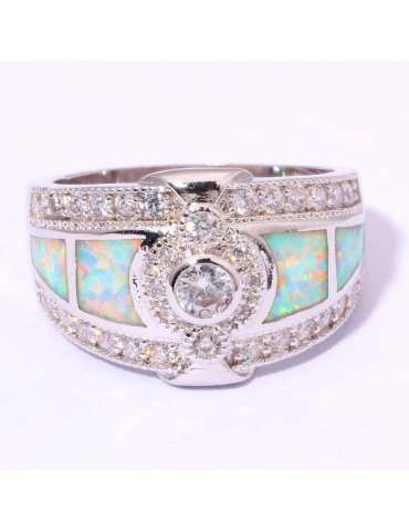 light-green-opal-white-topaz-silver-healing-ring-gemstone-jewelry-pink-background-front-hr044