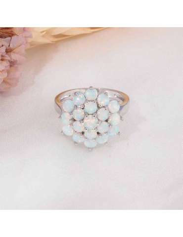 flower-shaped-ring-fire-opal-large-white-silver-healing-ring-gemstone-jewelry-grey-background-front-hihoney-hr055