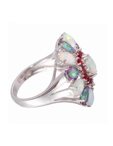 flower-shaped-topaz-opal-garnet-silver-healing-ring-gemstone-jewelry-white-background-side-hihoney-hr058