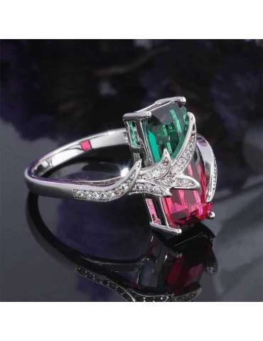 green-red-mystic-topaz-zirconia-chakra-silver-healing-ring-gemstone-jewelry-black-dark-background-hihoney-hr060