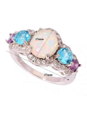 ring-with-three-stones-opal-aquamarine-amethyst-silver-gemstone-jewelry-white-background-details-hihoney-hr063