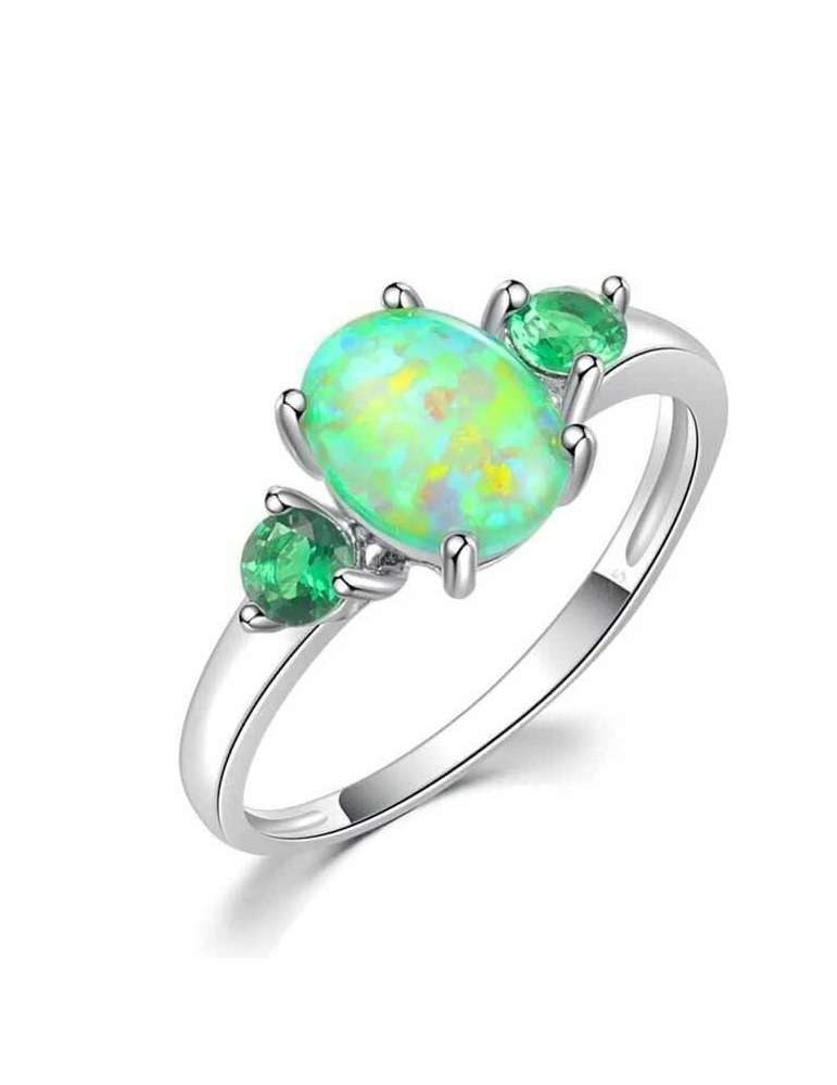 emerald-green-opal-silver-healing-ring-gemstone-jewelry-white-background-hihoney-hr065