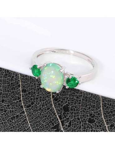 emerald-green-opal-silver-healing-ring-gemstone-jewelry-white-black-background-hihoney-hr065